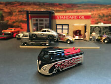 Hot Wheels Limited Edition VW Hot Rod Surf Truck Black and Silver with Flames