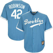 655337ff Jackie Robinson 42 Brooklyn Dodgers Men's Light Blue Baseball Jersey M ...