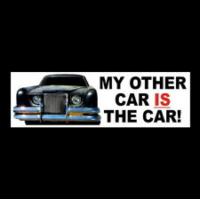 """My Other Car Is The Car"" James Brolin 1977 horror movie Bumper Sticker prop old"