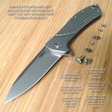 Zero Tolerance ZT0801 801 ZT0801BW 0801 ZT Knife 13PC Titanium Screw Set RAW Ti