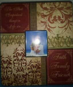 NWT Maroon & Gold Scroll Wall Art Picture Inspirational Floral w/insert photo
