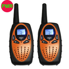 2PCS Handheld Walkie Talkies T628 PMR 446MHz 1W 2 Way Radios 8CH Interphone NEW