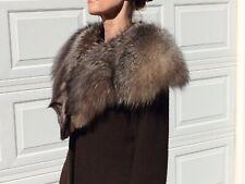 Gorgeous $2,000 Saga Fox Stole Wrap Cape Fox Head Closure Lush Sheen Superb