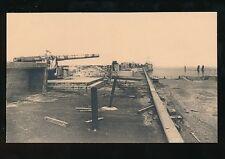 WW1 Zeebruge Belgium Battery at end of Mole PPC