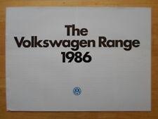 VOLKSWAGEN RANGE orig 1986 UK Mkt Sales Brochure Polo Golf Jetta Scirocco Passat