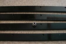 "CNC Plasma table mech Rack & Gear 96"" Rack (4x24""pcs) & a 12T 1/4"" pinion gear"