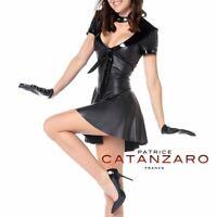 Patrice Catanzaro - Marina - Robe sexy noire fetish wetlook laqué effet cuir