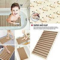 Bathtub Shower Non Slip Bath Mat With Suction Cups and Drain Holes For Tub