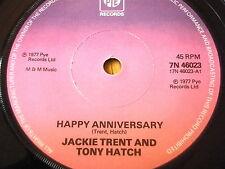 """Jackie Trent & TONY HATCH-Happy Anniversary 7"""" vinyle"""
