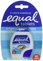 Equal Tablets Original Equal Taste 0 Calorie Sweetener 100 Tablets