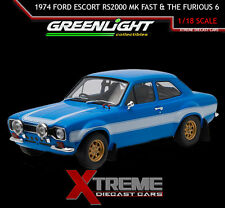 GREENLIGHT 19022 1:18 BRIAN'S 1974 FORD ESCORT RS2000 MK FAST AND THE FURIOUS 6