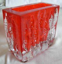 INGRID GLASS  / INGRIDGLAS / GLASSHUTTE 1970s SMOKE RED GLASS VASE 3080- SIGNED