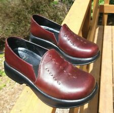 Dansko Womens Size EU35/36 US 5 Burgundy Leather Work Shoes Nurse Cushioned s3