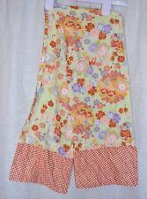 "Vintage 1970's Multi-Color Polka Dot Floral Flower Long Cotton Scarf 49 by 8.5"""