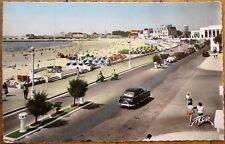 Sables d'Olonne, Vendee, France 1956 Realphoto Postcard: Le Remblai et la Plage