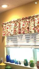"Red Olive Retro Kitchen Curtain Valance Window Topper Cotton fabric 43""W x 15""L"