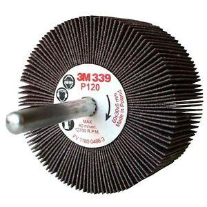 3M 339 Roue abrasive sur tige 3M™ 339, 30 x 15 x 6 mm, Grain P120