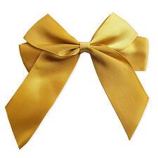 Handmade Satin Ribbon Hair Bows Slides Accessory Girls. REAL SILVER PLATED Clips