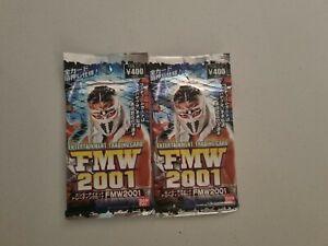 FMW 2001 Trading Cards Packs Wrestling. Single pack