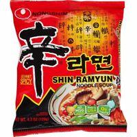 Nongshim Gourmet Noodles, Spicy Shin Ramyun, 16-count, Korean noodles