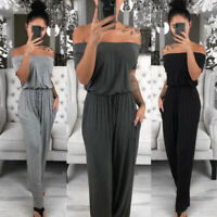 US STOCK Women Ladies Clubwear Playsuit Bodycon Party Jumpsuit Trousers