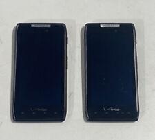 Motorola Droid RAZR 16GB Black Verizon- Lot of 2 Working Condition