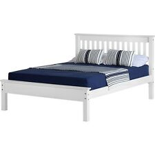 Seconique Monaco Double White Bed Frame With Low Foot End Whpb307wht