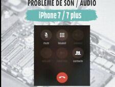 Réparation carte mère iPhone 7/7+Probleme de son/audio/micro garanti 6 mois