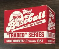 1989 TOPPS TRADED Baseball Factory UNOPEN Set out of case KEN GRIFFEY  F6020404