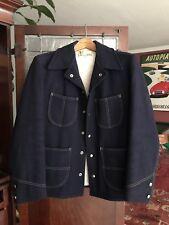 Vtg 40s 50s Lakeland Atomic Rockabilly Wool Jacket Car Coat Barn Coat Western