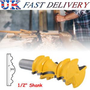 1/2inch Shank Crown Router Bit Carbide Waist Line Molding Woodwork Cutter Tool
