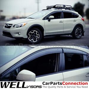 WellVisors Window Visors 13-17 For Subaru XV Crosstrek/Impreza Sport 12-16