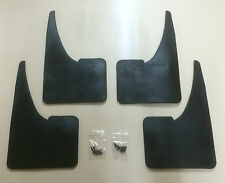 UNIVERSAL Car Rubber Black MUDFLAPS Mud Flaps SET of 4 Front & Rear TOP QUALITY