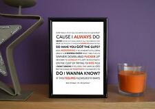 Framed - Arctic Monkeys - Do I Wanna Know ? - Poster Art Print - 5x7 Inches