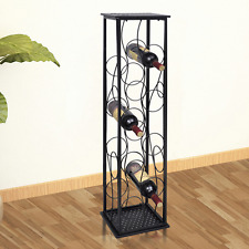 Wine Rack Bottle Holder Storage Metal Bar Pub Cellar 8 Bottles Stand Display
