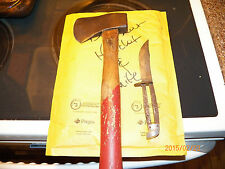 Lot of 2 Vintage Boy Scouts of America Tools**Red Handled Hatchet & Knife**