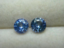 2 rare BLUE CEYLON SAPPHIRE gems beautiful Gemstone Genuine Sri Lanka round 0.63