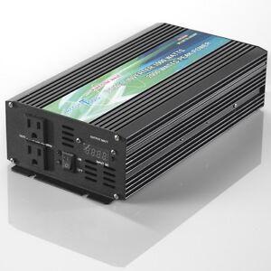 BRAND NEW PURE SINE WAVE POWER INVERTER 1000/2000 WATT 12V DC TO 120V AC!