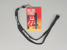 Rolling Stones V.I.P. pass with lanyard 14 on fire 4 colors