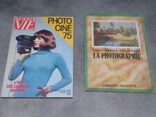 lot de 2 livres sur la photographie Hachette Photo ciné 75 hors série