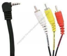 "Lot10 6ft 1/8"" 4conductor~triple RCA Y/R/W,3.5mm Audio/Video Adapter Cable$"