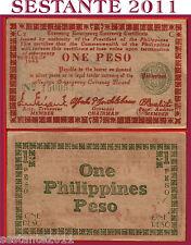 PHILIPPINES FILIPPINE 1 PESO 1943  Negros Occidental emergency P S661a  SPL+/XF+