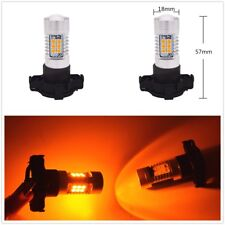 2 x NEW PY24W 21SMD Amber Yellow LED Bulbs For BMW Front Turn Signal Lights