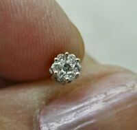 A Single 9ct Whte Gold Solitaire Diamond Set  Earring