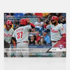 2018 TOPPS NOW #422 TIE FOR NL EAST AFTER LONGEST 9-INNING GAME IN NL PHILLIES