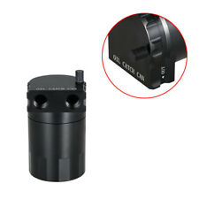 Black Aluminum Baffled Oil Catch Can Tank Reservoir Breather With Fittings