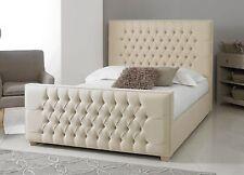 Divine Floor Standing Headboard Chenille Linen Crush Velvet 3 4'6 5 6ft 5ft Kingsize