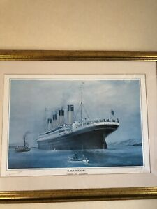Titanic Framed Print Signed By Millvina Dean