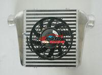 Aluminum Intercooler & Fan 280x300x70mm 3''(76mm) In/Outlet Turbo FMIC Universal