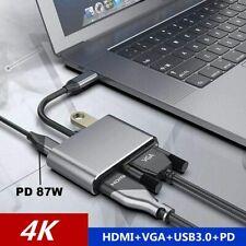 4 in 1 USB 3.0 Typ C zu 4K HDMI VGA Multiport Adapter Konverter Hub für Macbook